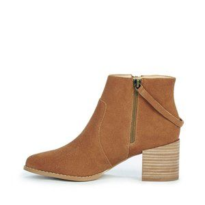 Sole Society Everleigh Chestnut Double Zip Boots